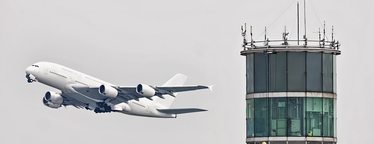 Airplane and controller tower  resized