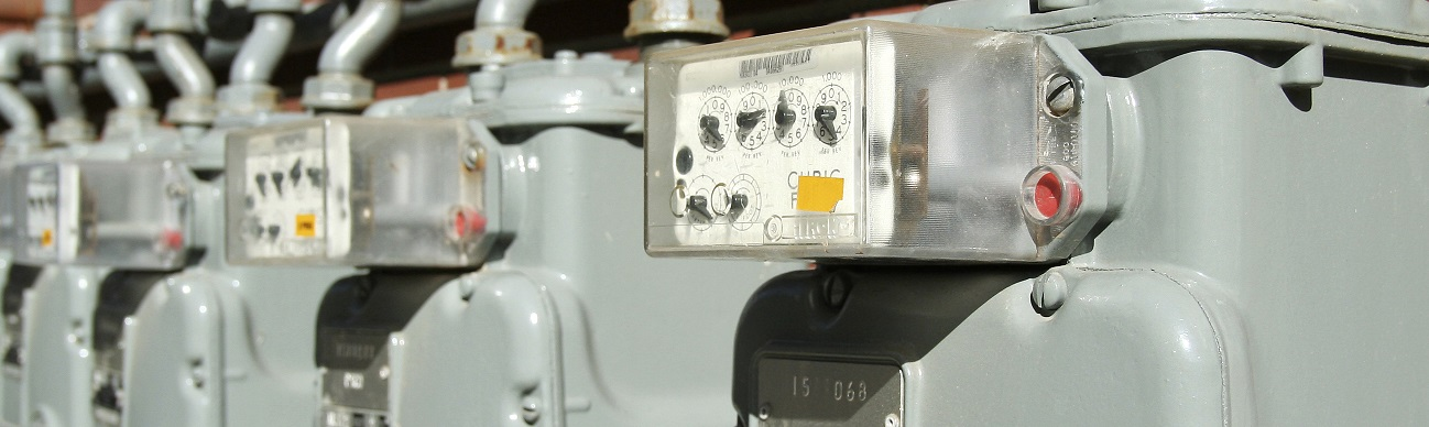 Row of electric meters  resized